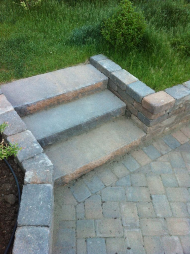 Brick Paver Stairs and Walls