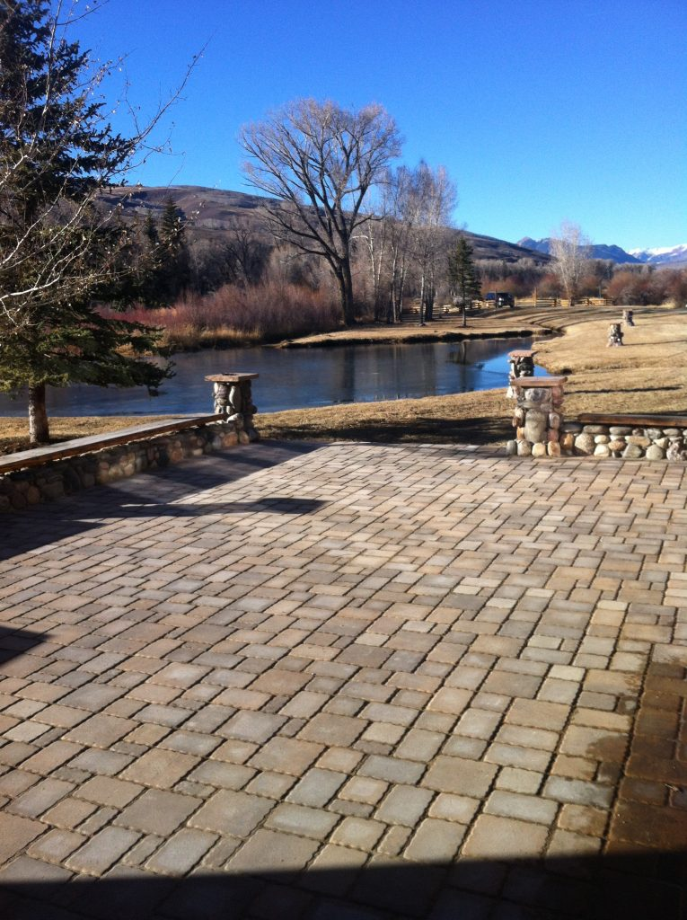 Beckwith Brickworks Brick Paver Patio, Crested Butte