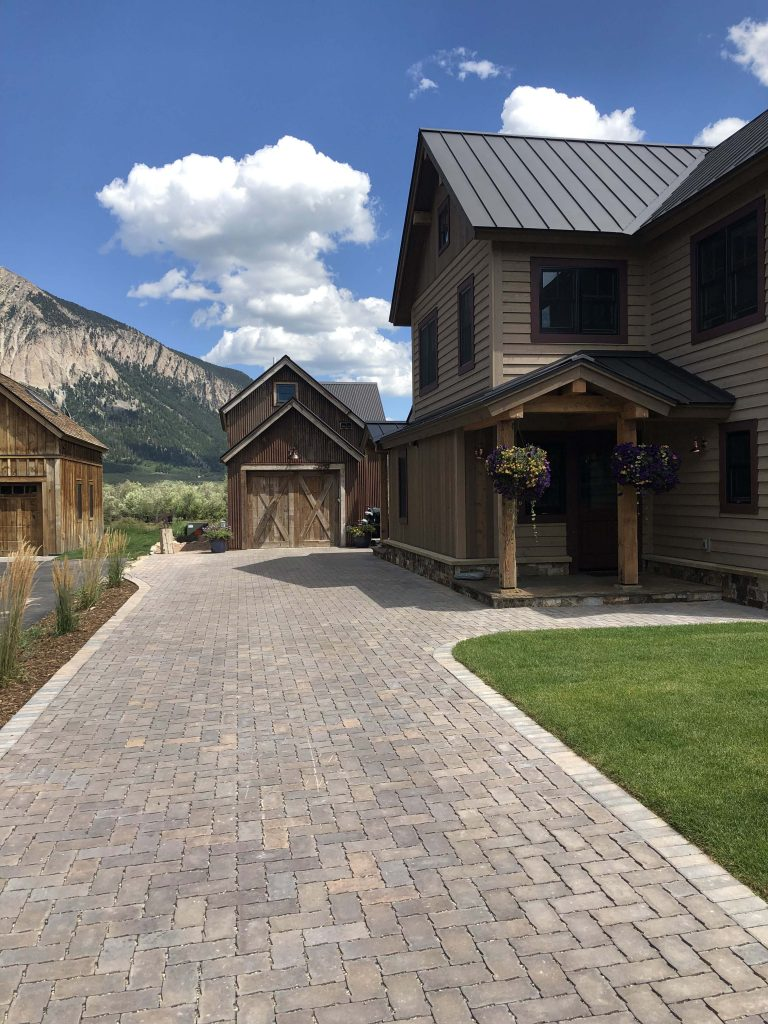 Brick Pavers Driveway in Crested Butte